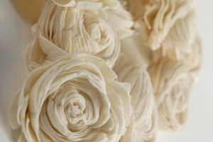 Svadobná kytica z jemného dreva
