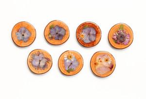 Pivné tácky zo sušených kvetov