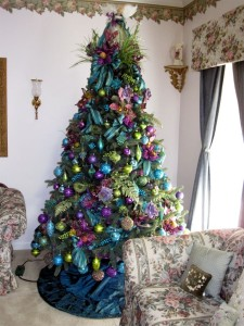 Farebný vianočný stromček